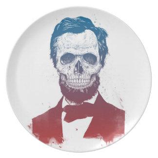 Dead Lincoln Dinner Plate