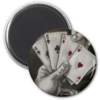 Dead Man's Hand 6 Cm Round Magnet