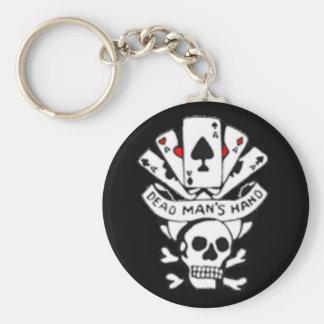 Dead Mans Hand Basic Round Button Key Ring