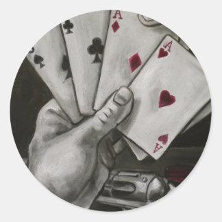 Dead Man's Hand Classic Round Sticker
