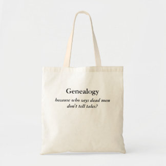Dead Men Tell No Tales Genealogy Tote