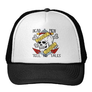 DEAD MEN TELL NO TALES... PIRATE TATTOO DAVEY JONE CAP