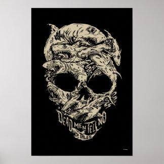 Dead Men Tell No Tales Skull Poster