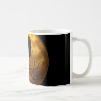 Dead moon crow coffee mug