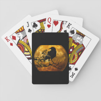 Dead moon crow playing cards