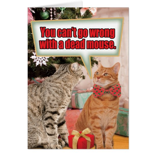 Dead Mouse Christmas Humour Paper Card