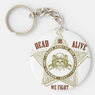 Dead or Alive we Fight Basic Round Button Key Ring