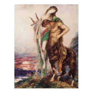 Dead poet borne by a centaur postcard