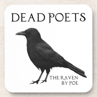 Dead Poets - The Raven by Poe Beverage Coaster