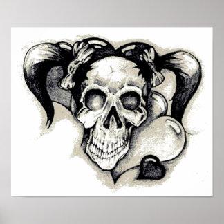 Dead Punk Rock Girl Posters