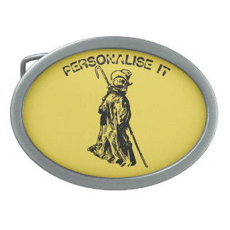 Dead reanimated oval belt buckles