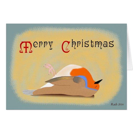 Dead Robin Christmas Card