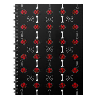 Dead Roses (Black w/ Red) Spiral Notebook
