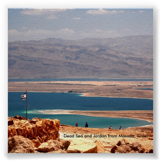 Dead Sea and Jordan from Masada,  Poster