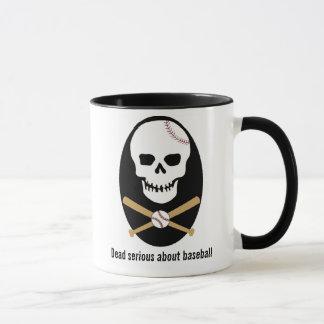 Dead serious about baseball - Mug