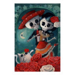 Dead Skeleton Mexican Lovers Poster
