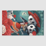 Dead Skeleton Mexican Lovers Rectangle Stickers