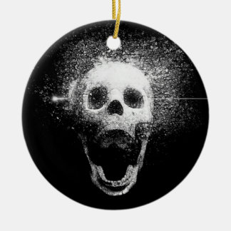 dead skull christmas ornament
