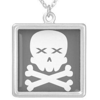 Dead Skull Square Pendant Necklace