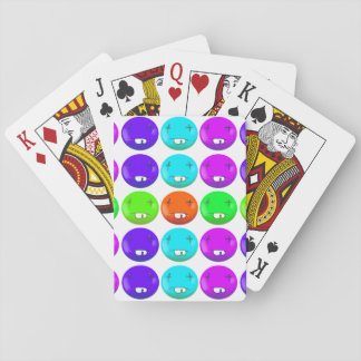 dead smiley face funny cartoon playing cards