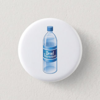 Dead Snowman Melted Bottled Water 3 Cm Round Badge
