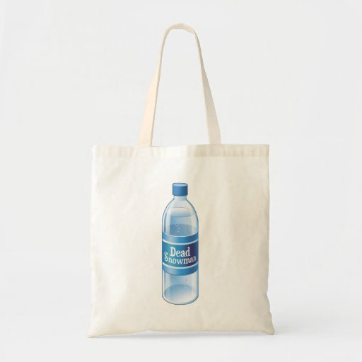 Dead Snowman Melted Bottled Water Tote Bag