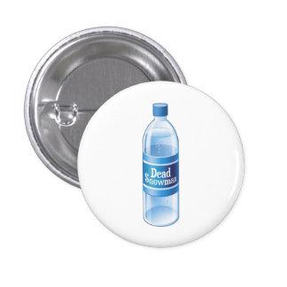 Dead Snowman Melted Bottled Water Button