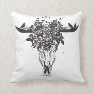 Dead summer (blackandwhite) cushion
