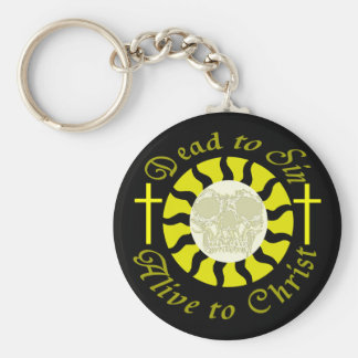 Dead to Sin - Alive to Christ Basic Round Button Key Ring