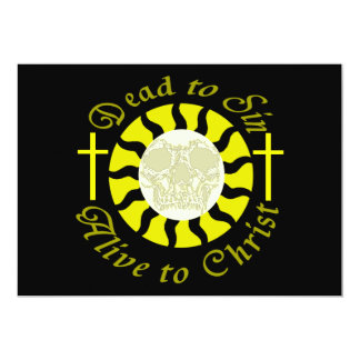 """Dead to Sin - Alive to Christ 5"""" X 7"""" Invitation Card"""