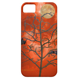 Dead Tree amongst an Orange Scary Sky iPhone4 Case iPhone 5 Cases