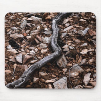 Dead Tree Branch and Stone Mouse Mat