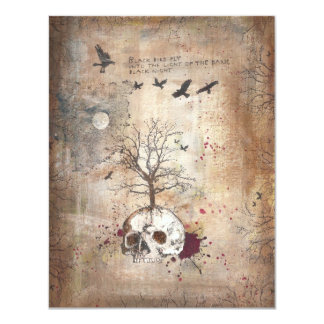 Dead tree dark art invitation card