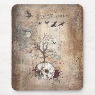 Dead tree dark art mousepad