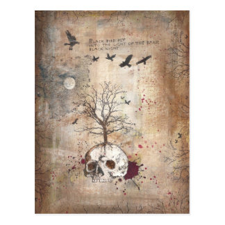 Dead tree dark art postcard