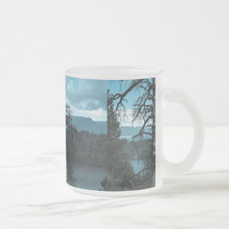 Dead Tree In Lake Tahoe Frosted Glass Mug