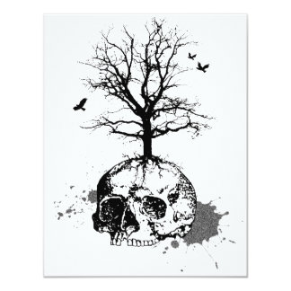 Dead tree invitation card