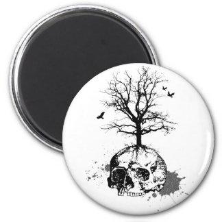 Dead tree 6 cm round magnet