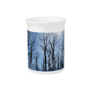 Dead Trees in Blue Pitcher