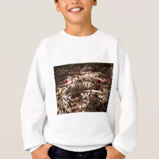 Dead wood and leaves on the forest floor. sweatshirt
