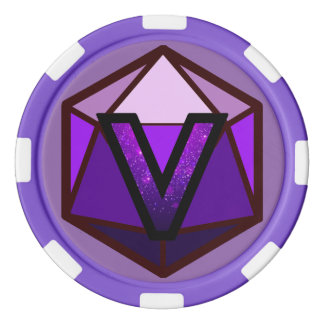 DEADLANDS - Purple Team Poker Chip