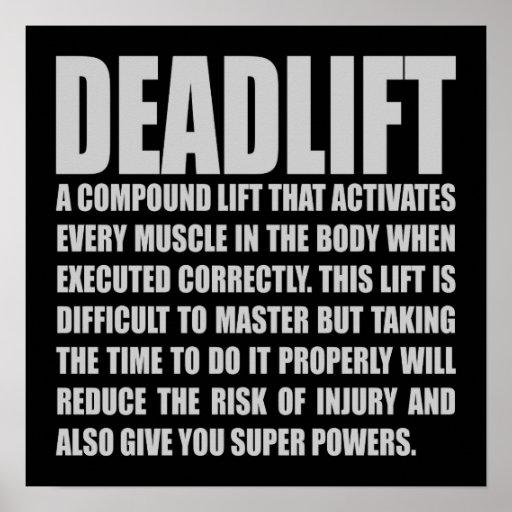 Deadlift - Funny Workout Motivational Poster