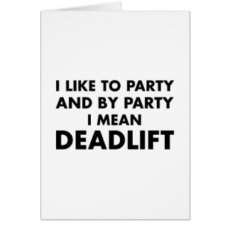 Deadlift Greeting Card