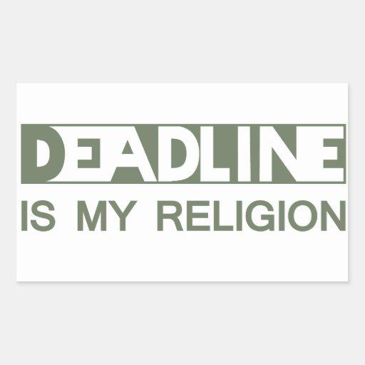 Deadline Sticker