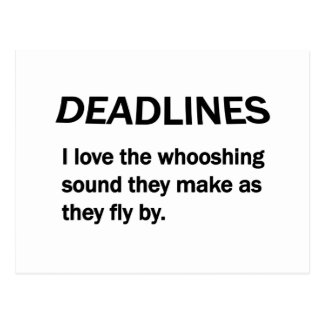 DEADLINES POSTCARD
