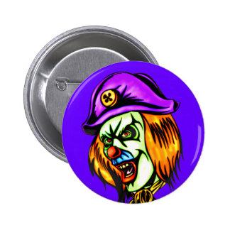 Deadly Evil Clown 6 Cm Round Badge