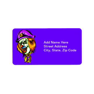 Deadly Evil Clown Address Label