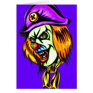 Deadly Evil Clown Greeting Card