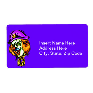Deadly Evil Clown Shipping Label
