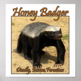 Deadly, Insane, Ferocious Honey Badger Print
